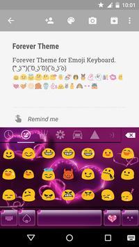 Forever Emoji Keyboard Theme screenshot 3