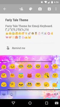 Fairy Tale Emoji Keyboard Skin apk screenshot