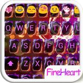 Fire Heart Emoji Keyboard Skin icon
