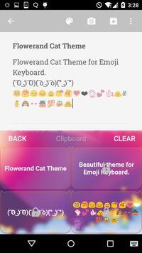 Flower Emoji Keyboard apk screenshot