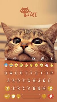 Cute Kitty Emoji Keyboard Theme Wallpaper poster