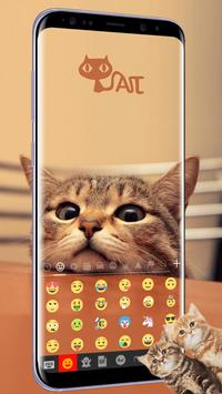Cute Kitty Emoji Keyboard Theme Wallpaper screenshot 1