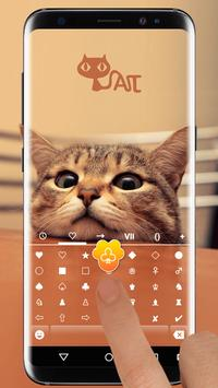 Cute Kitty Emoji Keyboard Theme Wallpaper screenshot 2