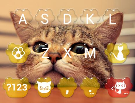 Cute Kitty Emoji Keyboard Theme Wallpaper screenshot 4