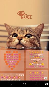 Cute Kitty Emoji Keyboard Theme Wallpaper screenshot 6