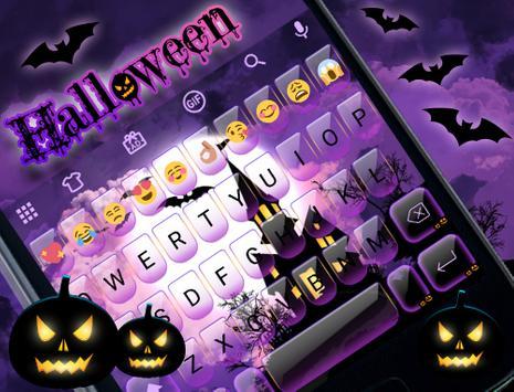 Halloween Emoji Keyboard Theme apk screenshot