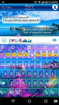 Happy Kayak Emoii Keyboard poster