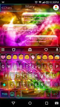Neon Daydream Emoji Keyboard apk screenshot