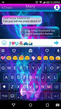 Emoji Keyboard Luminous Theme poster