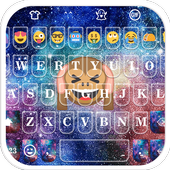 Galaxy Monkey Emoji Keyboard Theme icon