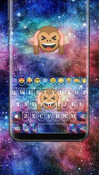 Galaxy Monkey Emoji Keyboard Theme poster