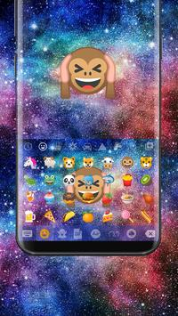 Galaxy Monkey Emoji Keyboard Theme apk screenshot