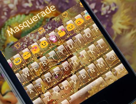 Masquerade Emoji Keyboard Skin apk screenshot