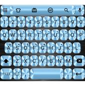 Metallic Blue Emoji Keyboard icon