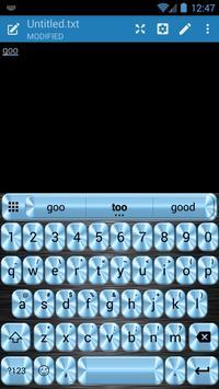 Metallic Blue Emoji Keyboard apk screenshot