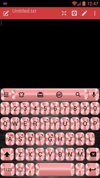 Metallic Red Emoji Keyboard poster