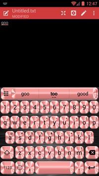 Metallic Red Emoji Keyboard screenshot 4