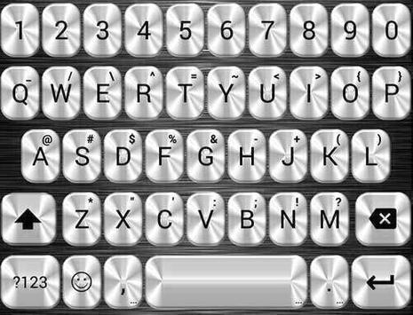 Metallic Silver Emoji Keyboard screenshot 3