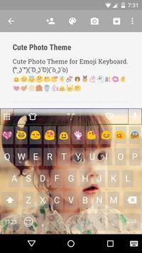 Cute Photo Emoji Keyboard Skin poster