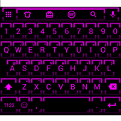 Neon Fuchsia 2 Emoji Keyboard icon