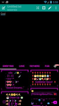 Neon Fuchsia 2 Emoji Keyboard screenshot 1