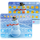 Snowman Emoji Keyboard Live Wallpaper icon