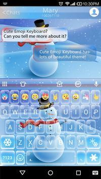 Snowman Emoji Keyboard Live Wallpaper poster