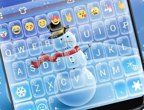 Snowman Emoji Keyboard Live Wallpaper apk screenshot