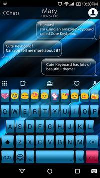 Science Blue Emoji Keyboard poster