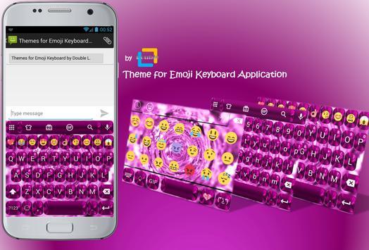 Shading Pink Emoji Keyboard poster