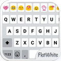 Flat White Emoji Keyboard