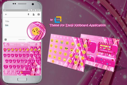 Sparkling Pink Emoji Keyboard Theme apk screenshot