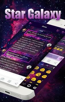Star Galaxy Message Theme apk screenshot