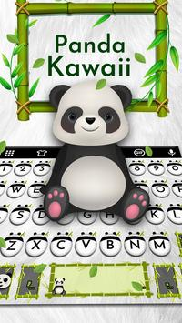 Panda Kawaii Keyboard poster