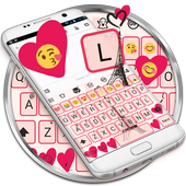 Paris Pink Eiffel Emoji Keyboard Theme icon