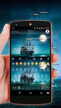 Pirate Ship Wallpaper for Emoji Keyboard poster