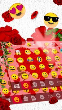 Rose Love - Emoji Keyboard screenshot 2