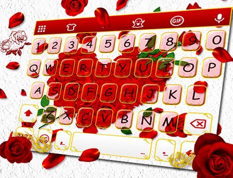 Rose Love - Emoji Keyboard screenshot 4