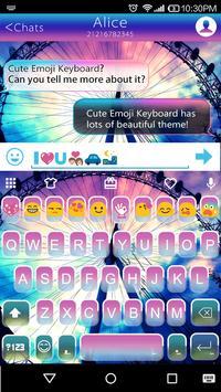 Rainbow Sky Emoji Keyboard poster
