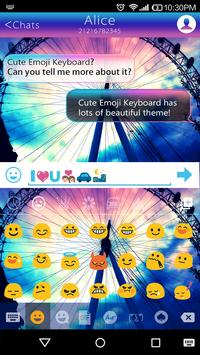 Rainbow Sky Emoji Keyboard screenshot 1