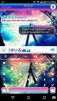 Rainbow Sky Emoji Keyboard apk screenshot