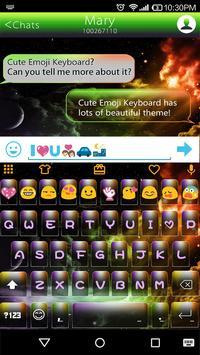 Rainbow Universe Emoji Theme poster