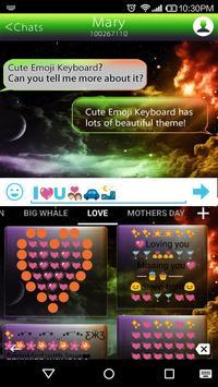 Rainbow Universe Emoji Theme apk screenshot