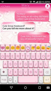 Retro Pink Emoji Keyboard Skin poster