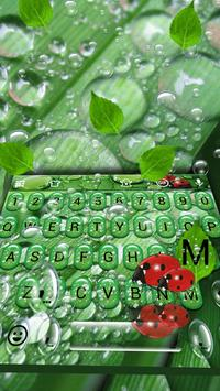 Water Drop Leaf Emoji Keyboard poster