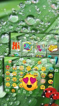 Water Drop Leaf Emoji Keyboard apk screenshot