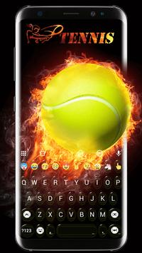 Tennis Emoji Keyboard Theme poster