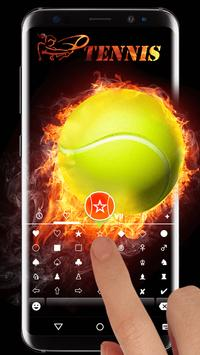 Tennis Emoji Keyboard Theme apk screenshot