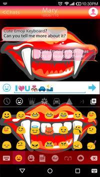 Vampire Emoji Keyboard Theme apk screenshot