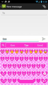 Valentine Heart Emoji Keyboard apk screenshot